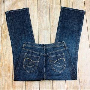 CHICO'S Women's Bootcut Leg Blue Jeans Size1 Short